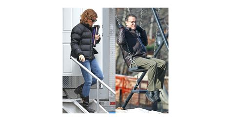 Pictures of Sandra Bullock and Tom Hanks Filming Extremely