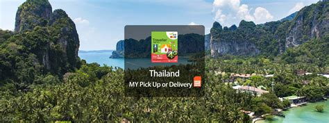 4G SIM Card (MY Pick Up/Delivery) for Thailand, Krabi