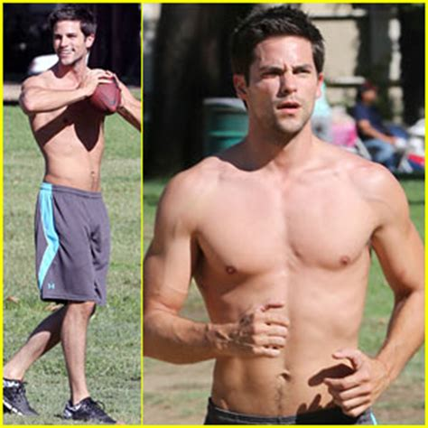 Brant Daugherty Shows Off Shirtless Abs During Park