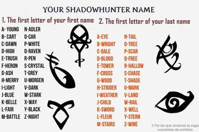 What's your Shadowhunter name?!---> Mine's Adlertail