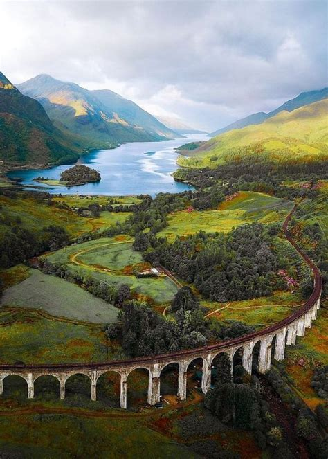 At the Glenfinnan Viaduct in Scotland