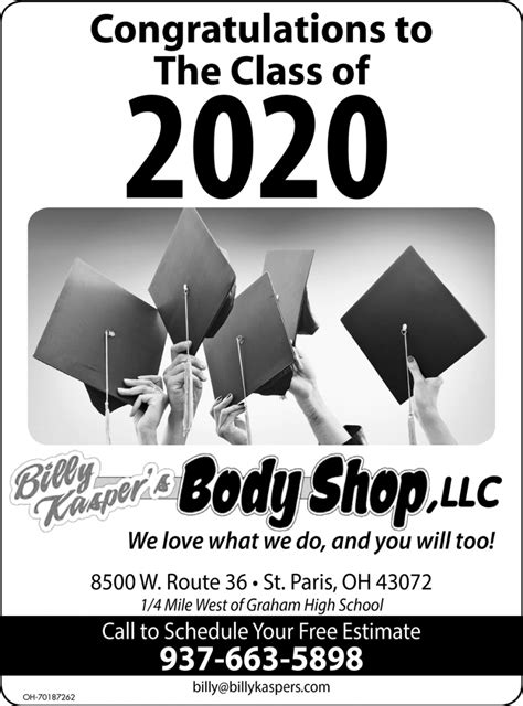 Congratulations to The Class of 2020, Billy Kasper's Body