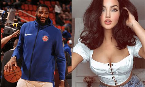 Model Natalie Halcro Court Side at Pistons Game Allegedly