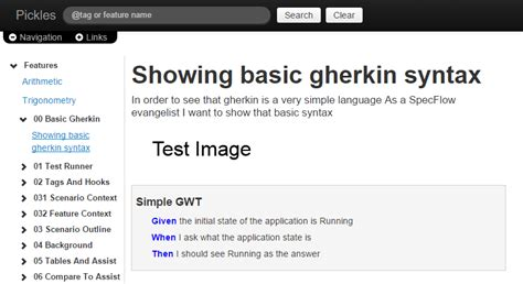 Pickles - the open source Living Documentation Generator