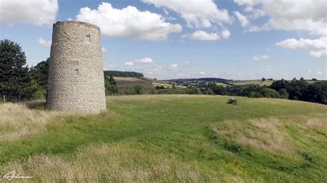 Aerial video: Much Wenlock Windmill Hill and the Blue