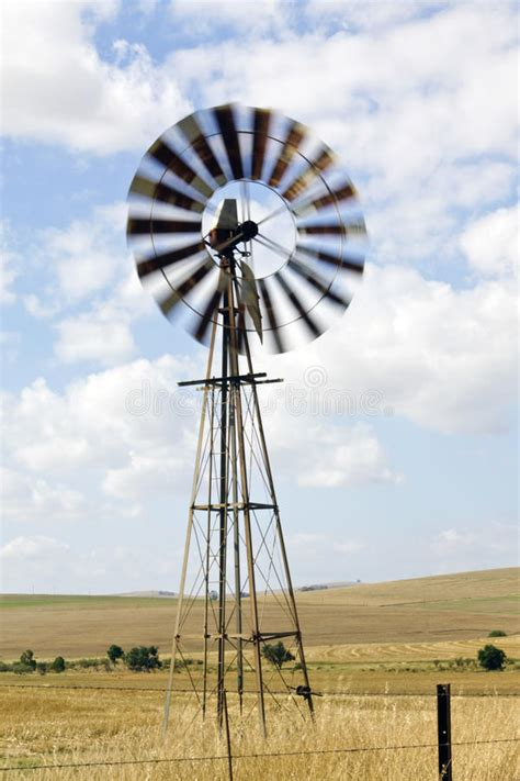 Windmill On A Farm In South Africa Stock Image - Image of